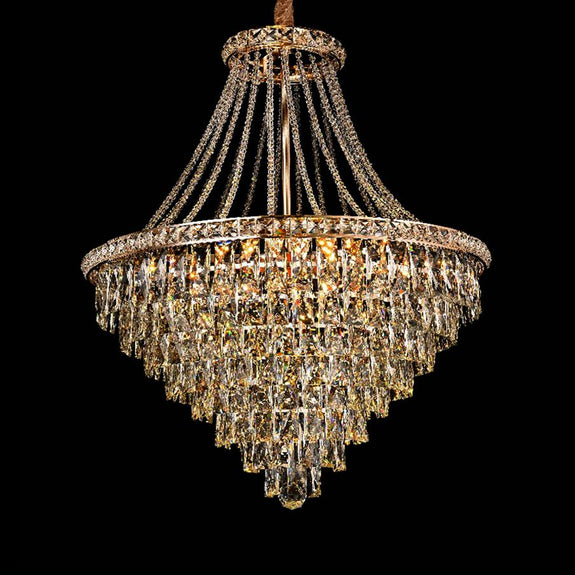Crystal Pendant Light 65, Rosaleen Crystal Chandelier - Chrome -