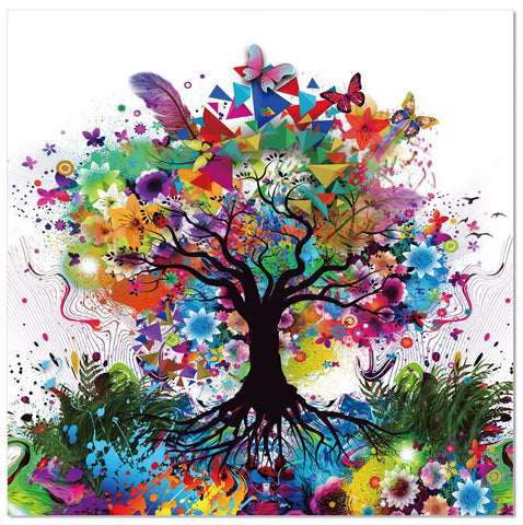 Colourful Tree Acrylic Wall Art