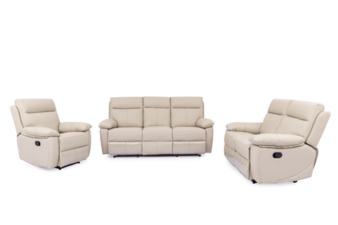 BOULEVARD 3PC Leather Recliner Suite