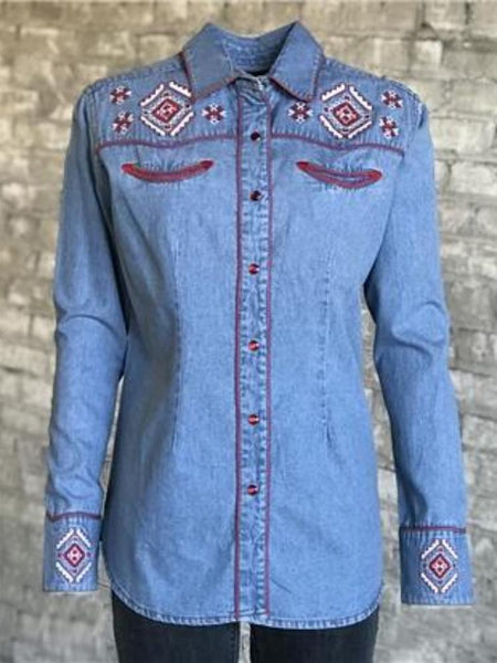 Men's Denim Quarter Horse Western Shirt