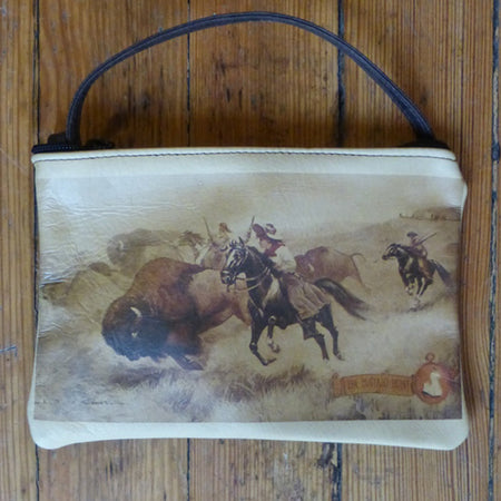 Navajo Girl Coin Leather Purse