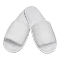 Hotel Open Toe White Slippers