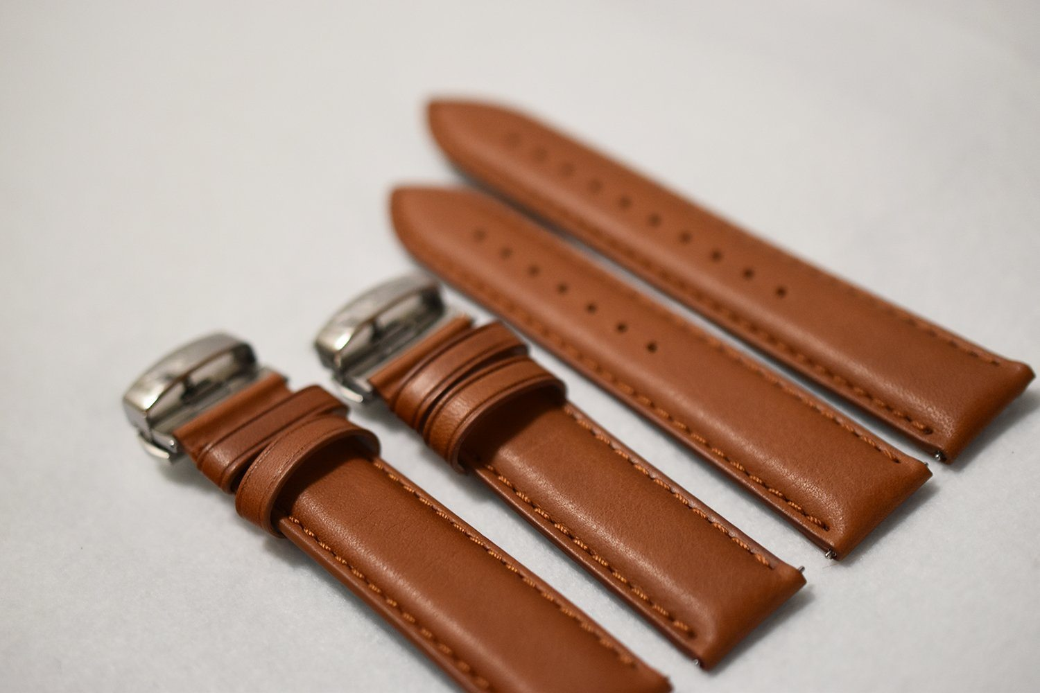 Saddle Aged Leather Watch Strap - Large