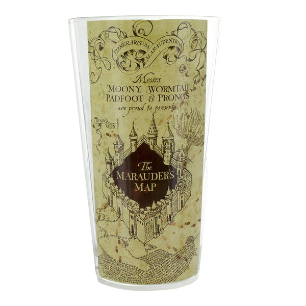 Harry Potter Marauders Map Water Glass