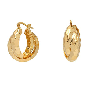 real silver earrings, 18 carat plating, lovely gold hoops, luxury hoop earrings, affordable fashion hoops