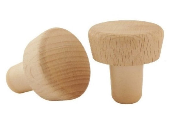 Wood-Top Plastic Bottle Stopper