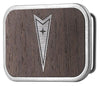 Pontiac Framed Marquetry Black Walnut/Metal - Matte Rock Star Buckle