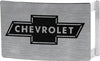 Chevy Bowtie Rock Star Buckle - Brushed Silver/Black