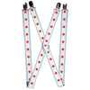 "Suspenders - 1.0"" - Chicago Flag"