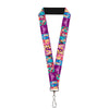 "Lanyard - 1.0"" - Disney DREAMER 7-Sparkling Princesses Tiara Purple White"