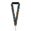 "Lanyard - 1.0"" - CURIOUSER AND CURIOUSER Flowers of Wonderland Collage"