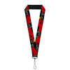"Lanyard - 1.0"" - Lightning McQueen Poses 95 Tread Black Gray Yellow Red"