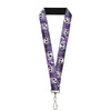"Lanyard - 1.0"" - Jack Expressions Ghosts in Cemetery Purples Grays White"