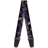 Guitar Strap - Maleficent & Diablo Black Roses Purples