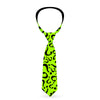 "Necktie Standard - Riddler ""?"" Scattered Lime Green Black"