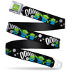 Toy Story Alien Eyes Full Color Green/Black/White Seatbelt Belt - Toy Story 3-Aliens OOOOOHHH Black/White/Gray Webbing