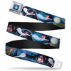 Peter Pan Compass Full Color Blue-Fade White Seatbelt Belt - Peter Pan Group Flying Scene Webbing