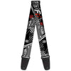 Guitar Strap - Lightning McQueen Poses FR 95 Checker Black White Red