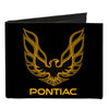 Canvas Bi-Fold Wallet - Firebird PONTIAC Logo Black Golds