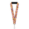 "Lanyard - 1.0"" - Rapunzel 4-Tangled Poses Pascal Lights Light Purples"