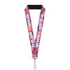 "Lanyard - 1.0"" - Transparent Cheshire Cat Poses WE'RE ALL MAD HERE"