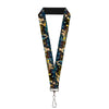 "Lanyard - 1.0"" - Jasmine & Aladdin Carpet Ride Jasmine Poses Flowers"