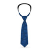 Necktie Standard - Superman Icon Scattered Blues