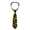 Necktie Standard - Bat Signal-1 Scattered Black Yellow