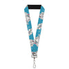 "Lanyard - 1.0"" - Ariel Poses Shells Sketch Blue White"