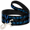 Dog Leash - Pontiac FIREBIRD/Logo Black/Grays/Blues