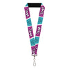 "Lanyard - 1.0"" - YZMA Smiling Face Blocks Pinks White Blue Black"