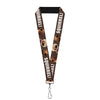 "Lanyard - 1.0"" - Dug 3-Poses SQUIRREL! Brown Yellow White"