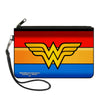Canvas Zipper Wallet - LARGE - Wonder Woman Logo Stripe Red Yellows Blue