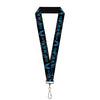 "Lanyard - 1.0"" - Pontiac FIREBIRD Logo Black Grays Blues"
