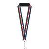 "Lanyard - 1.0"" - Mustang Text w Tri-Bar Stripe"