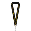 "Lanyard - 1.0"" - Pontiac FIREBIRD Logo Black Grays Golds"