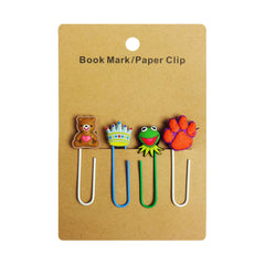Frog Mixed Design Paper Clip - Set of 4