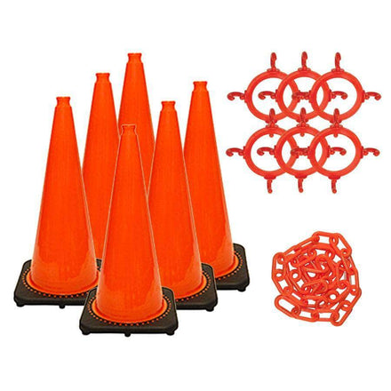 """C3 28"""" Traffic Cone and Chain Kit"""