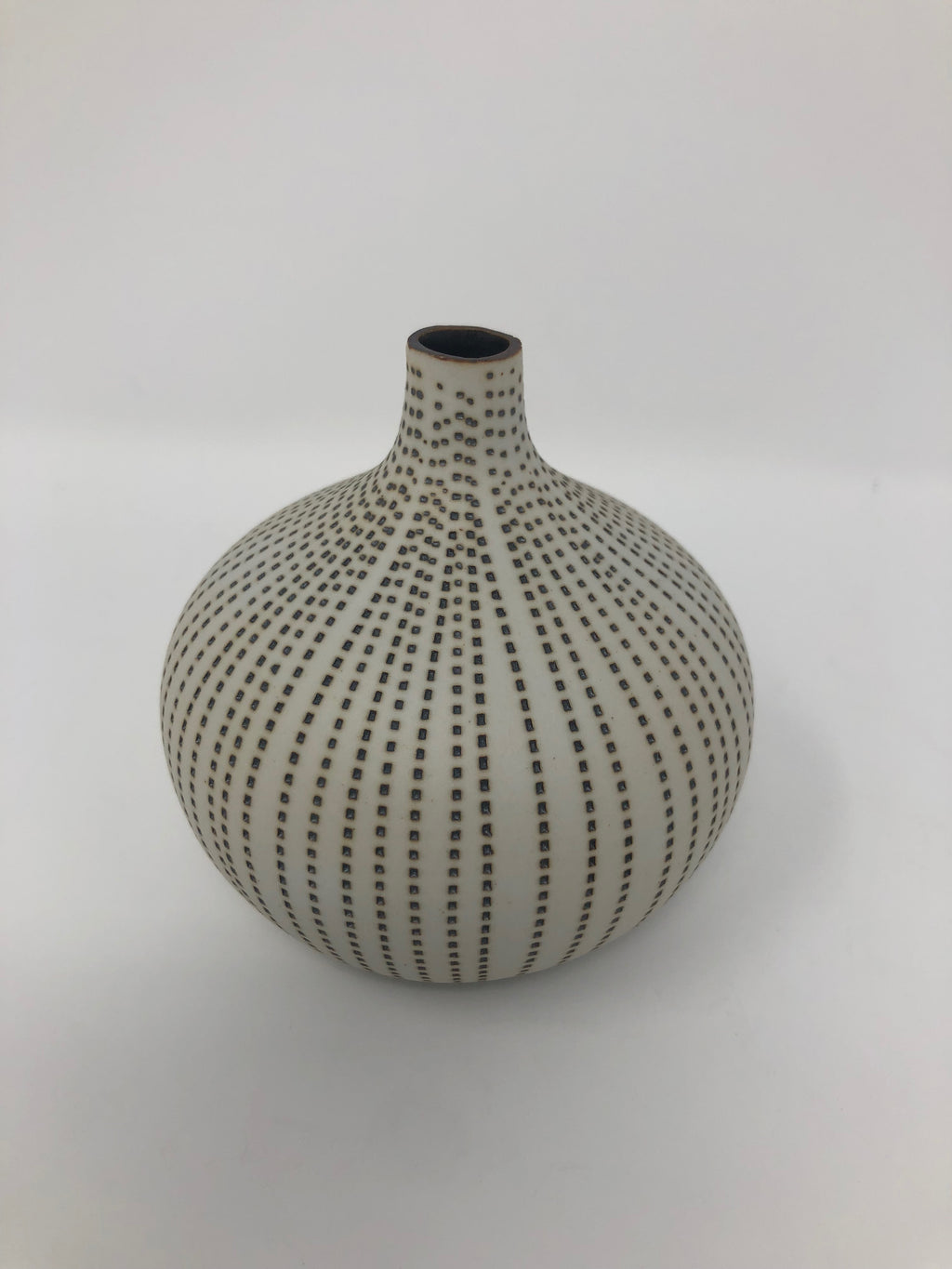 Congo Tiny Weed Pot White with Dots