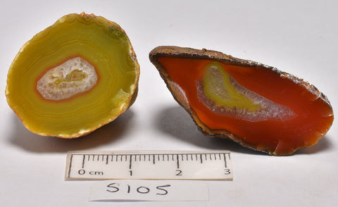 2 x AGATE CREEK, High Grade Polished AGATE Halves, AUSTRALIA (S105)
