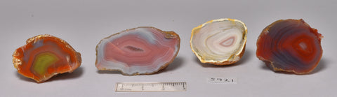 4 x AGATE CREEK, High Grade Polished AGATE Halves, AUSTRALIA (S921)