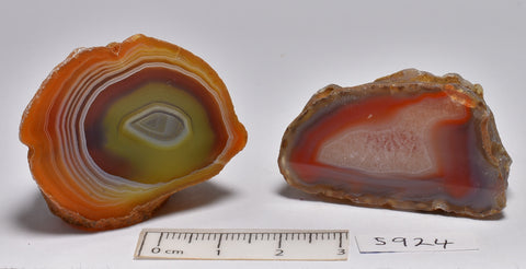 2 x AGATE CREEK, Polished AGATE Halves, AUSTRALIA (S924)