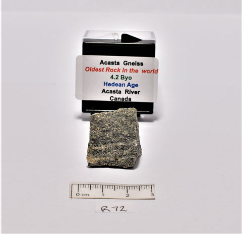 "ACASTA GNEISS Rough, ""OLDEST ROCK"" 9 grams CANADA (R72)"