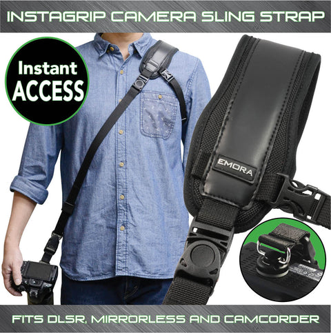 Emora INSTAGRIP Quick Access Sling Shoulder Strap for DSLR and mirrorless cameras