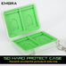 Emora SD Card Hard Shell Protect Case with secure silicon slots and quick release hook