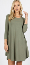 Premium Pocket 3/4 Sleeve Dress