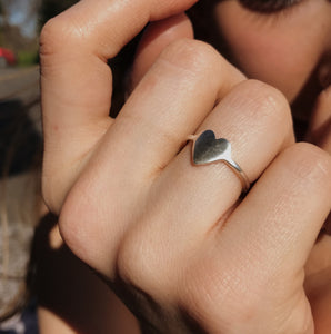 BABY A'S HEART RING SILVER
