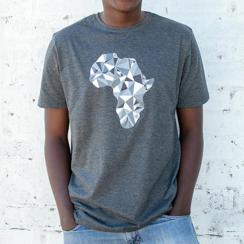 S/S Crew Neck Tee, Charcoal Melange, 100% Cotton Slub