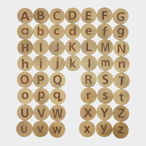 tactile alphabet matching set