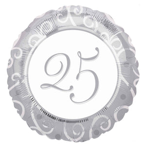 "25th Anniversary 18"" Foil Balloon"
